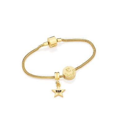 MKorn - Bracelete de ouro com pingentes