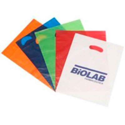 Galeon Brindes e Embalagens Pr... - Sacola plástica em PEBD e PEAD - alça vazada