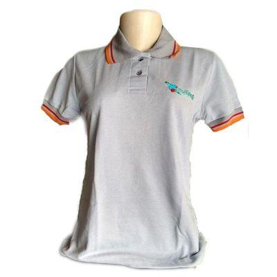 galeon-brindes-e-embalagens-promocionais - Camiseta feminina polo piquet PA, gola, braçadeiras personalizadas