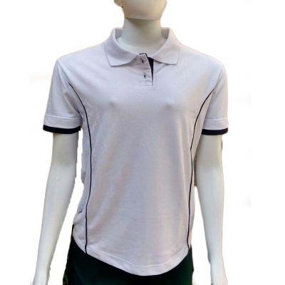 Camiseta feminina polo, recortes laterais Piquet PA. Detalhes outra cor - Galeon Brindes e Embalagens Pr...