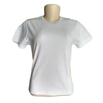 Camiseta feminina, gola careca e barra fixa, malha 100 algodão - Galeon Brindes e Embalagens Pr...
