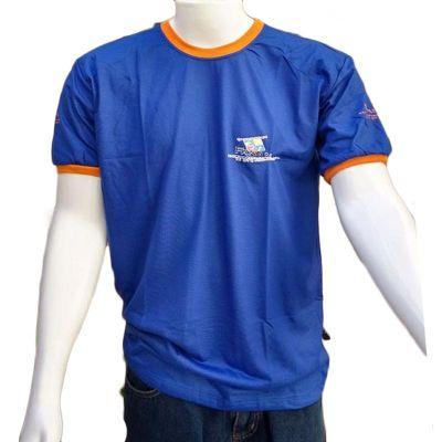 Galeon Brindes e Embalagens Promocionais - Camiseta masculina com gola careca em malha pv.
