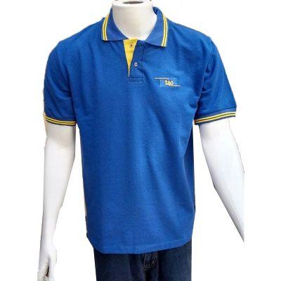 Galeon Brindes e Embalagens Promocionais - Camiseta polo piquet masculina gola com gola e braçadeiras.
