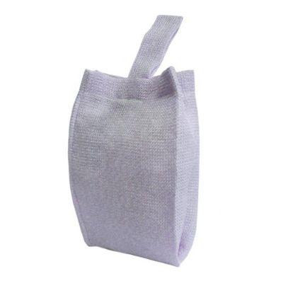 galeon-brindes-e-embalagens-promocionais - Mochila saco personalizada em juta sintética lilás - Medidas: 27 x 31 cm, com alça única de 35 cm. Com costura interna.