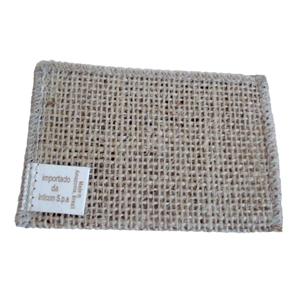 Galeon Brindes e Embalagens Pr... - Porta cartão personalizado em juta natural - Medidas: 13 x 10 cm.