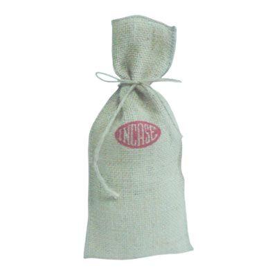 Galeon Brindes e Embalagens Promocionais - Saco personalizada em juta natural para vinho - Medidas: 18 x 38 cm.
