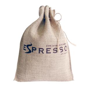 Saco personalizada em juta - Medidas: 23 x 30 cm com cordão e silk 1 cor. - Galeon Brindes e Embalagens Pr...
