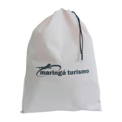 Galeon Brindes e Embalagens Promocionais - Saco personalizado em TNTrosa, com cordão e silk em uma cor.