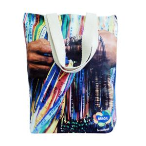 Galeon Brindes e Embalagens Promocionais - Sacola personalizada em algodão cru - Medidas: 30 x 40 cm x 8 cm, com alças em gorgurão cru c/ silk em transfer.