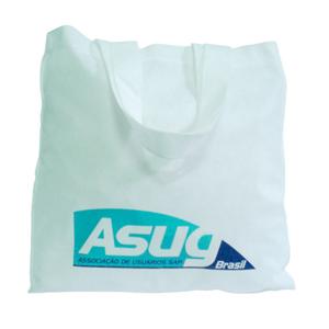 galeon-brindes-e-embalagens-promocionais - Sacola personalizada em TNT branco - Medidas: 35 x 35 cm, com alças de 50 cm cada. Costura externa.