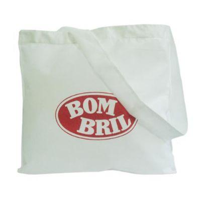 Galeon Brindes e Embalagens Promocionais - Sacola personalizada em TNT branco - Medidas: 40 x 39 cm, com alça única.