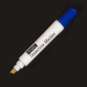tinta-magica - Caneta com tinta incolor sensível à luz ultravioleta.
