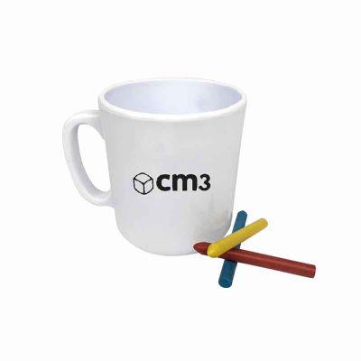 CM3 - Caneca para colorir 400 ml personalizada - branco