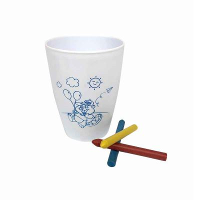 CM3 - Copo para colorir 250 ml personalizada - Branco