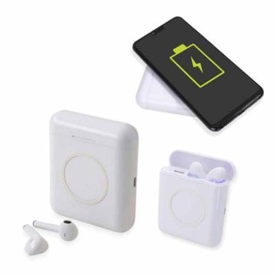 Air Fone personalizado bluetooth com estojo Power Bank por Indução. Fone de ouvido personalizado ...