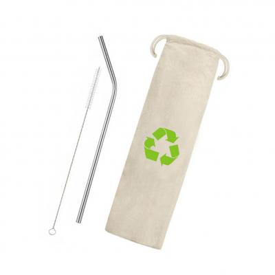 plus-brindes - Kit Canudo Sustentável Curvado