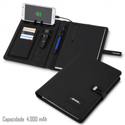 Plus Brindes - Caderno Powerbank  230