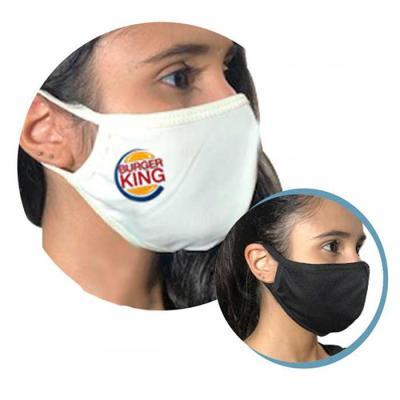 Máscara em tecido com dupla camada