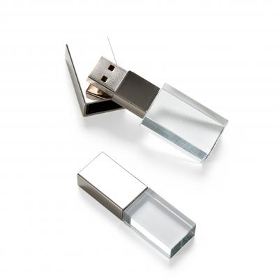 Plus Brindes - Pen Drive Vidro 4GB