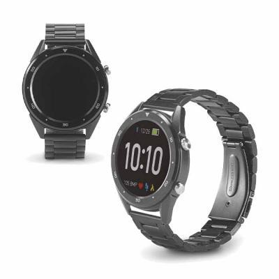 Relógio Smartwatch personalizado resistente à água, com pulseira em aço inox. Relógio inteligente...