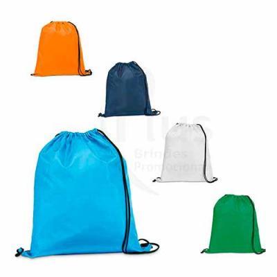 Saco mochila personalizado, feito em Nylon 210D. Sacola personalizada com muitas opções de cores....