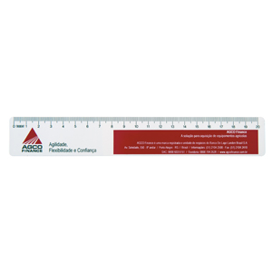 Régua de PVC personalizada. - Trident