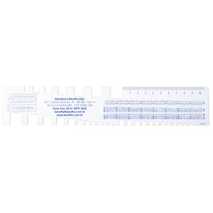 trident - Régua de PVC personalizada.