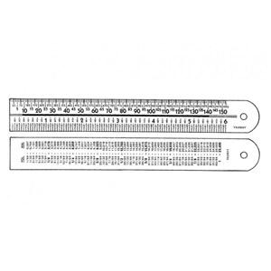 Trident - Régua de PVC.