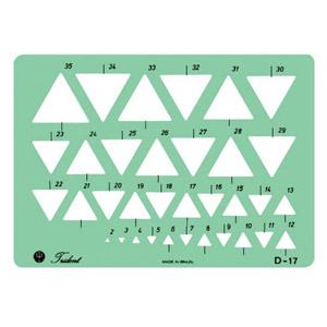 trident - Régua de triângulos.