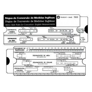 Trident - Régua para conversão de medidas inglesas.