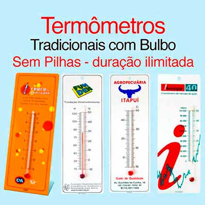 trident - Termômetro com bulbo.