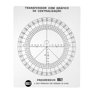 Transferidor com gráfico para centralização.
