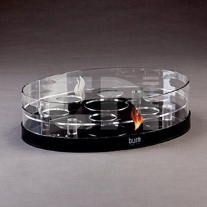 cn-acrilycs - Bandeja em acrílico cristal e preto.