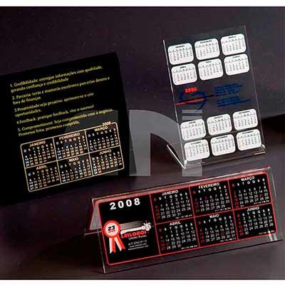 Calendarios em acrilico cristal - CN Acrilycs