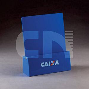 CN Acrilycs - Display em acrílico azul.
