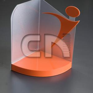 Display personalizado em acrílico colorido