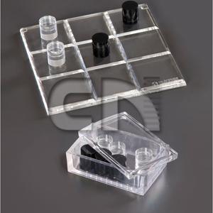 CN Acrilycs - Jogo da velha promocional em acrílico cristal.