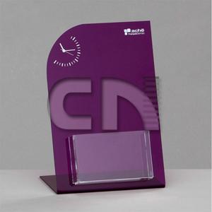 cn-acrilycs - Porta folder personalizado em acrílico roxo e cristal.