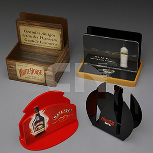 cn-acrilycs - Porta guardanapo em acrilico vermelho e preto