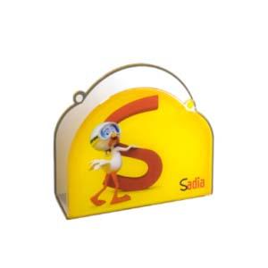cn-acrilycs - Porta guardanapo personalizado em acrílico cristal.