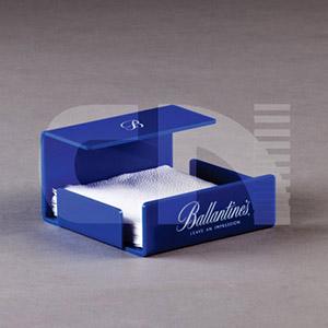 cn-acrilycs - Porta guardanapo em acrílico azul.