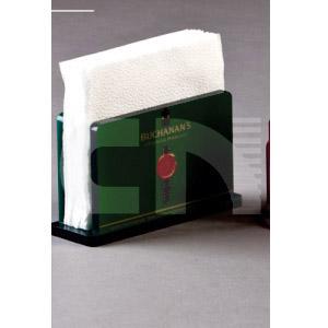 cn-acrilycs - Porta guardanapo em acrílico verde e preto.