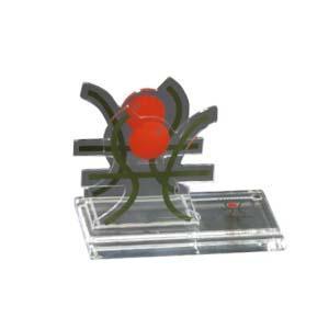 cn-acrilycs - Porta lembrete personalizado em acrílico cristal, com recorte especial.