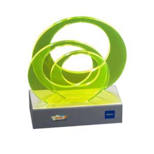 cn-acrilycs - Troféu personalizado em acrílico colorido, com recorte especial.