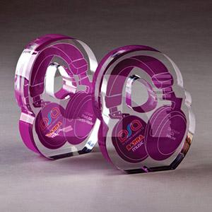 CN Acrilycs - Troféu em acrílico cristal.