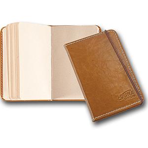 Duna Brindes - Bloco de anotações moleskine confeccionado em couro legítimo, couro sintético ou couro ecológico