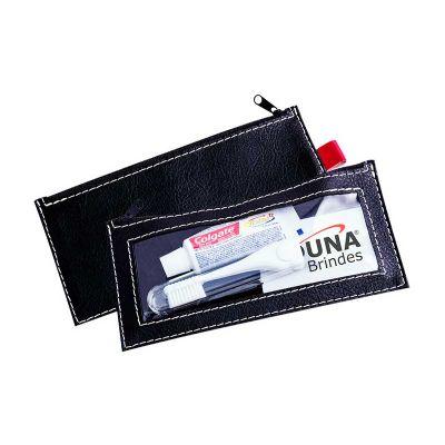 Duna Brindes - Kit higiene em couro