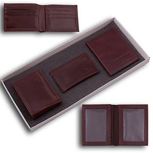 Duna Brindes - Kit masculino contendo um porta-cartão, uma carteira e um porta-documento