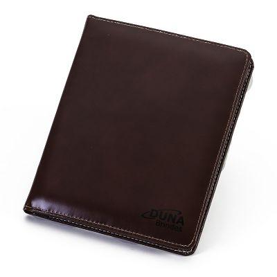 Pasta de convenção com porta-tablet, divisórias para papéis, porta-cartões, porta-caneta e porta-bloco de anotações, personalizada - Duna Brindes