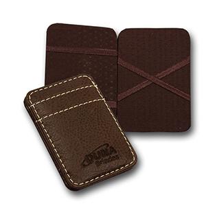 Duna Brindes - Porta-cartões Mágico: Encaixe o cartão de um lado e ele aparece do outro